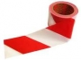 Лента сигнальная(красно-белая) 75 мм х 100